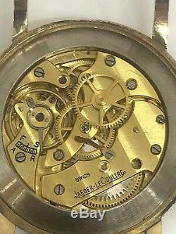Montre Jaeger-le-coultre vintage, Mécanique, boitier or 18 carats