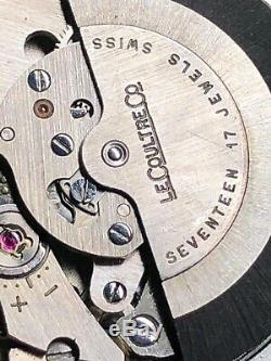 Montre Vintage Jaeger Lecoultre Automatique Jour Date Acier Couronne Vissée 38mm