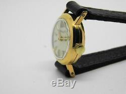 Montre bracelet JAEGER LECOULTRE de femme en plaqué or, vintage watch