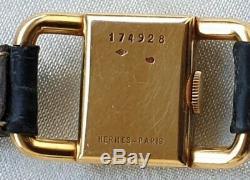 Montre de Dame Or Jaeger Lecoultre Pour Hermés étrier Circa 1960