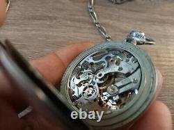 Montre gousset chono jaeger lecoultre monopoussoir diamètre environ 50 mm