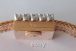 Montre jaeger-le-coultre or-platine et diamants