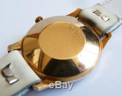 Montre mécanique en OR massif JAEGER LECOULTRE Swiss vers 1950 gold watch