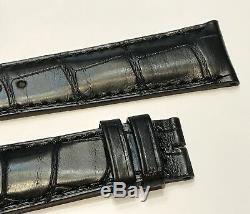 Neuf Bracelet / Strap Montre Jaeger Lecoultre Noir 20 MM Reverso @ Alligator Top