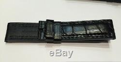Neuf Bracelet / Strap Montre Jaeger Lecoultre Noir 23 MM Reverso @ Alligator Top