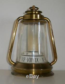 Rare Jaeger (lecoultre) Pendule De Bureau Ou De Table Forme Lanterne 8 Jours