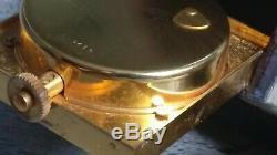 Réveil-baromètre de voyage Jaeger-Lecoultre type Ados cuir à RESTAURER