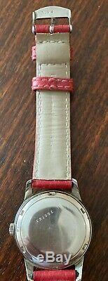 SUPERBE Montre Jaeger Lecoultre (Power Matic) En Acier, Bracelet Rouge