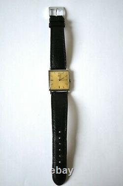 Vintage Jaeger Le-Coultre square in stainless steel with caliber K819