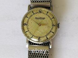 Vintage Jaeger Lecoultre Hand Wind Cal 475 Working Condition 30mm Swiss Watch