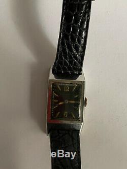Vintage montre bracelet UNIPLAN pre JAEGER LECOULTRE wristwatch 1931