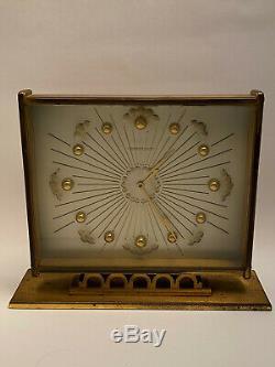 Vintage pendulette de bureau JAEGER LECOULTRE desk clock 1960